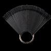 Kép 1/3 - Nyeles tip fém gyűrűvel - fekete (50db)