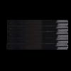 Kép 2/3 - Nyeles tip fém gyűrűvel - fekete (50db)