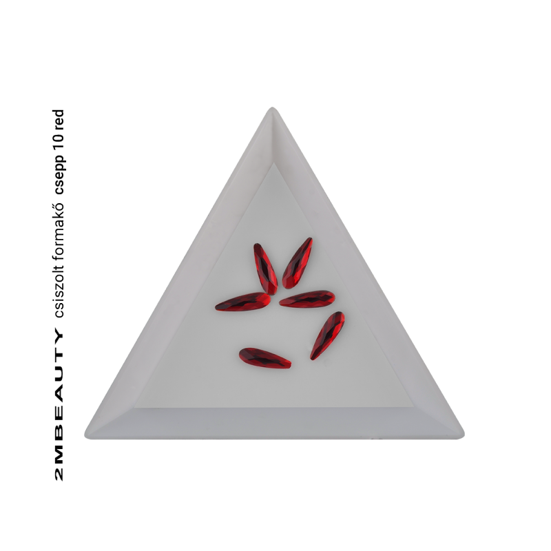 Csiszolt formakő csepp 10 red