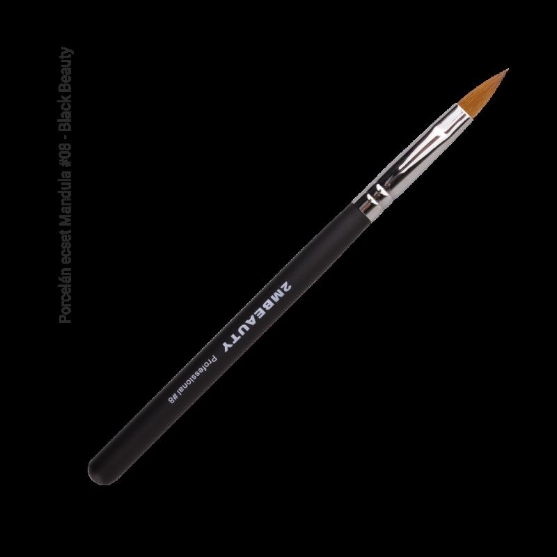 Porcelán ecset - Mandula #08 - Black Beauty
