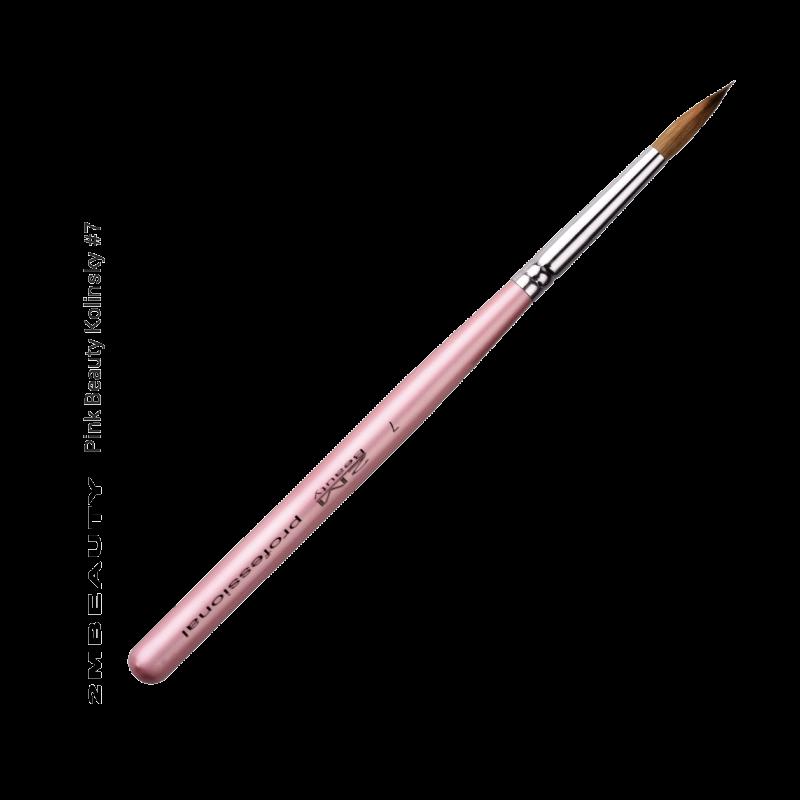 Porcelán ecset - Pink Beauty Kolinsky #7