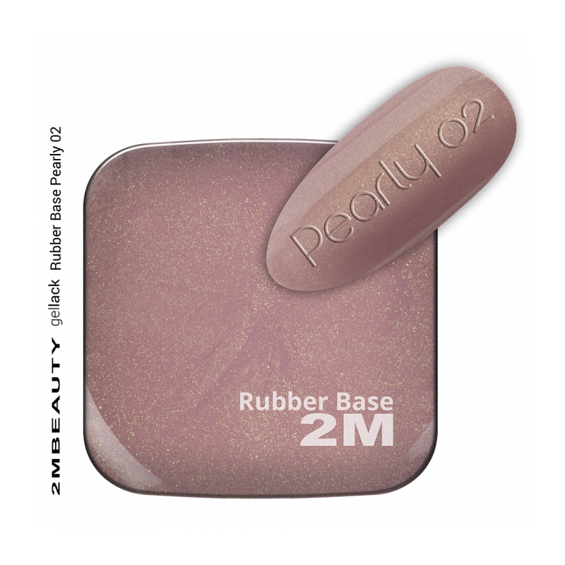 Gel Lack - Rubber Base Pearly 02