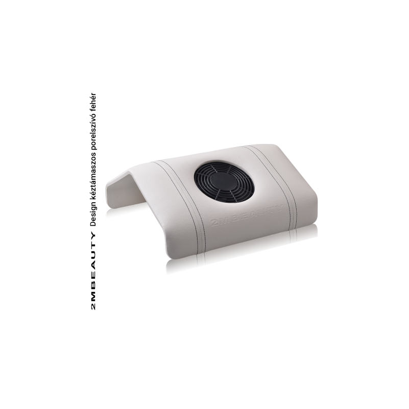Design kéztámaszos porelszívó - Fehér műbőr