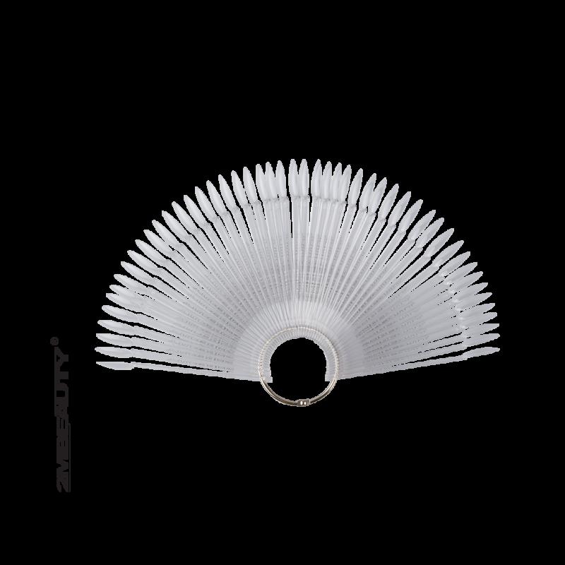 Nyeles ovális tip fém gyűrűvel - clear (50db)